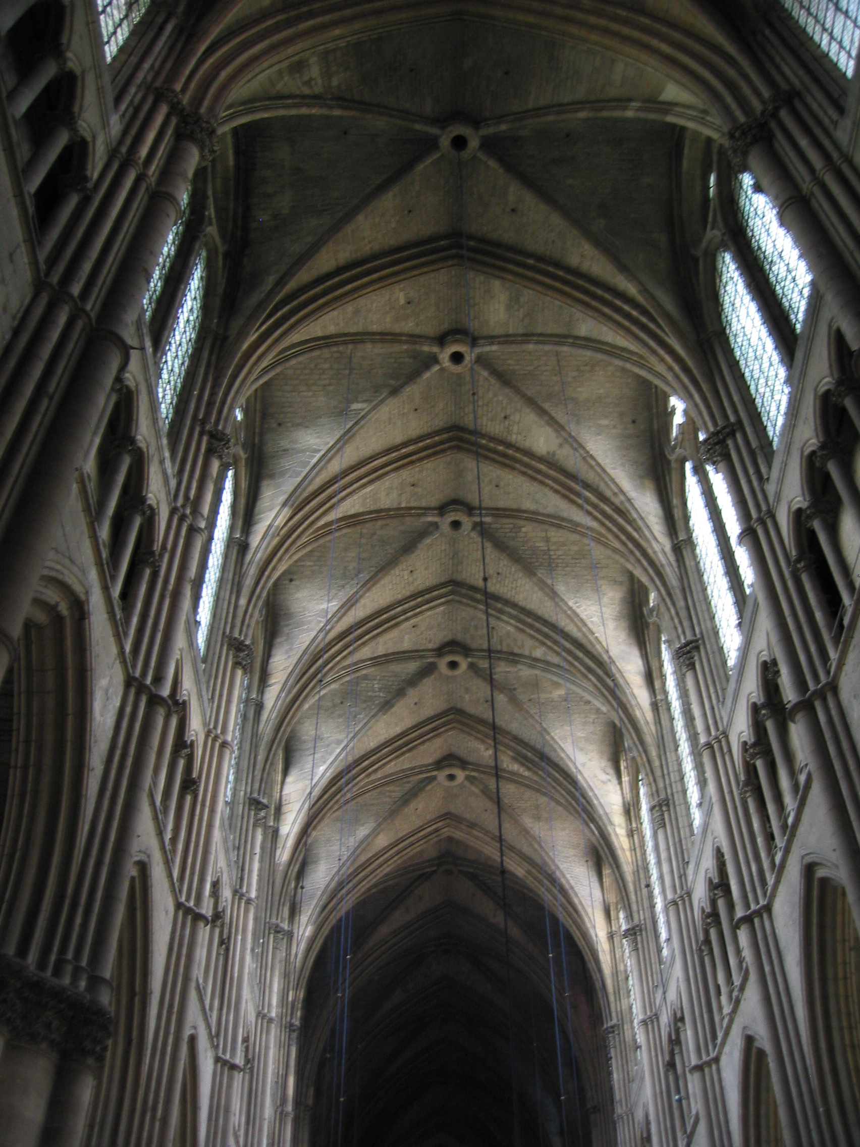 Ribbed Vault Of The Reims Cathedral (France).