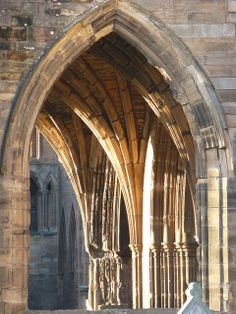 An Ogival Type Arch Or Pointed At The Elgin Cathedral 13th Century Moray North East Scotland