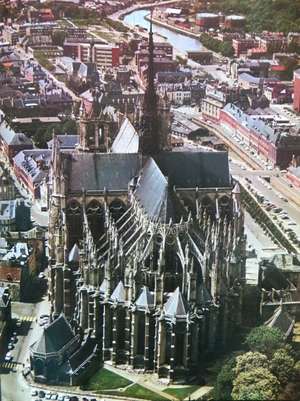 This Aerial Photograph Shows The External Structure Of A Gothic Cathedral Balance Between Vertical And Horizontal Lines Have Disappeared