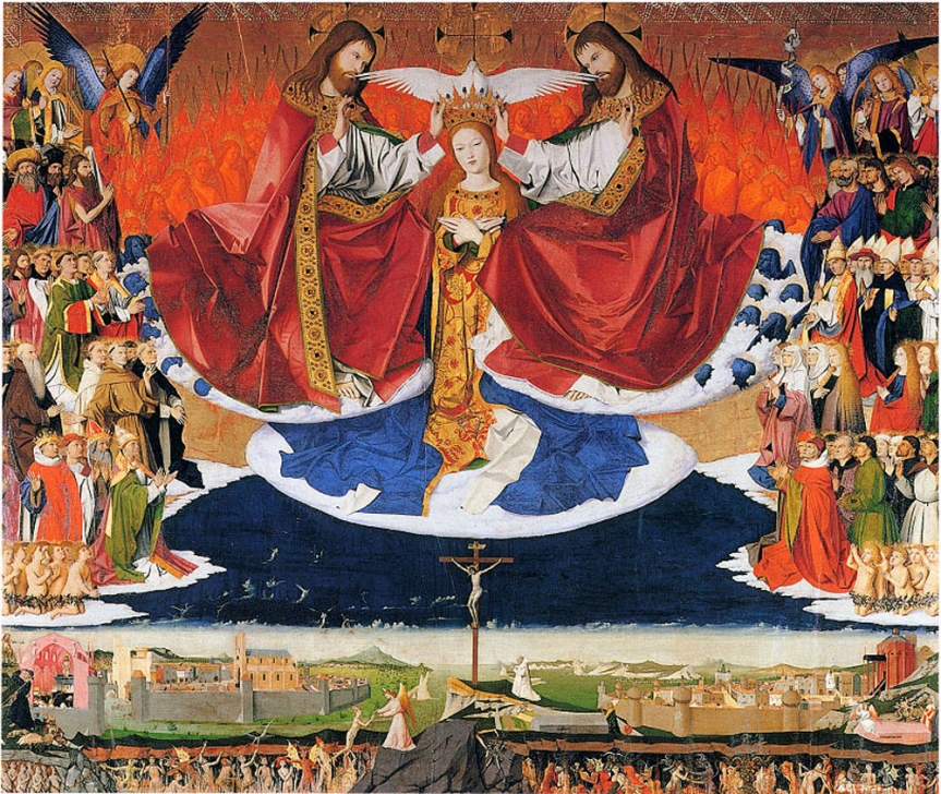 Oil On Panel 183 X 220 Cm Musee De LHospice Villeneuve Les Avignon Although The Coronation Of Virgin Is A Common Subject In Art This Painting