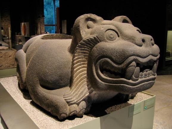 Aztec Jaguar Warrior Statue